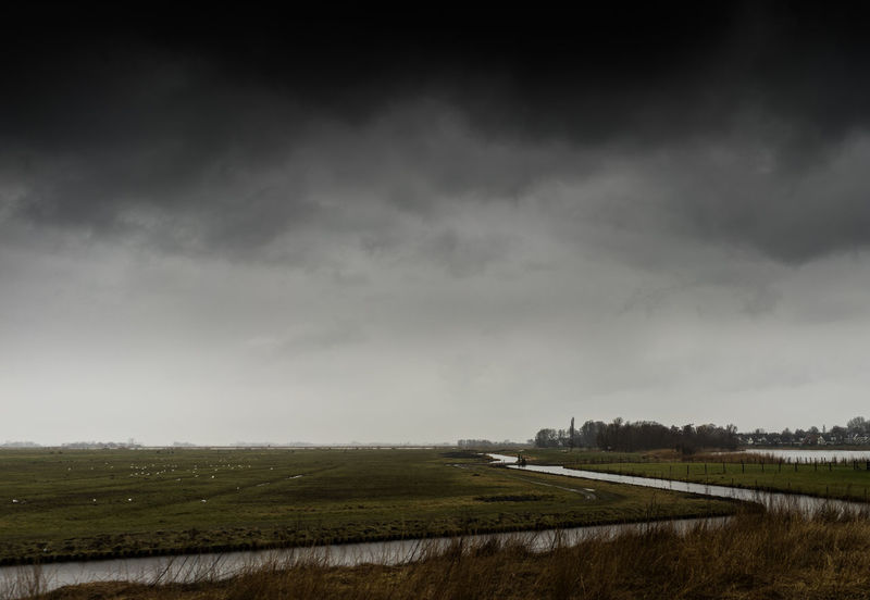 Beauty In Nature Cloud - Sky Day Environment Field Land Landscape Nature No People Non-urban Scene Ominous Outdoors Overcast Plant Rain Rural Scene Scenics - Nature Sky Storm Storm Cloud Tranquil Scene Tranquility
