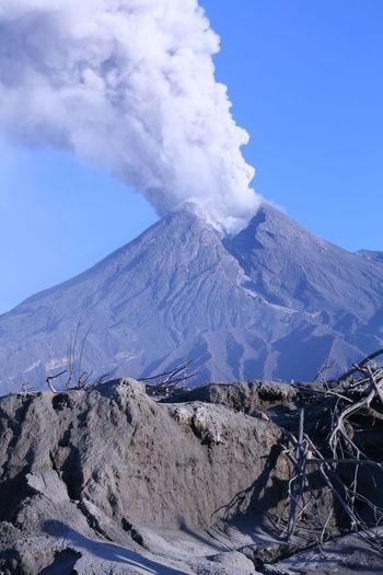 Eruption of mount merapi in yogyakarta indonesia, november 2010