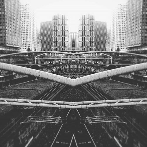 Paris... December 2015... Playing with editing effects... Mirroring Bw Urbanexploration