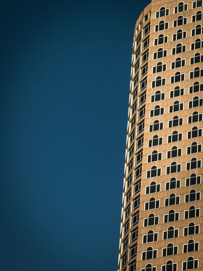 Architecture Building Building Exterior Built Structure City City Life Clear Sky Copy Space Day Façade Low Angle View Modern Negative Space No People Office Building Outdoors Pattern Pattern Pieces Skyscraper Tall Tall - High Tower Window