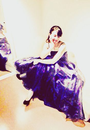 Before the concert... Concert Stage Dress Audry Hepburn
