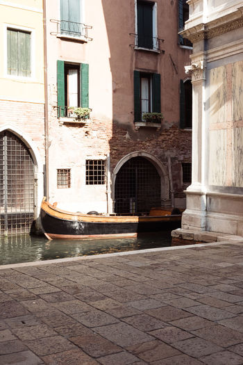 Arch Arched Architecture Building Building Exterior Built Structure City Courtyard  Day Door Entrance Façade Footpath Nature No People Old Outdoors Reflection Residential District Street Transportation Venice Window