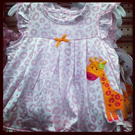 Love! Babygiraffe Babyzooanimals Baby Babygirl babyclothes babydress