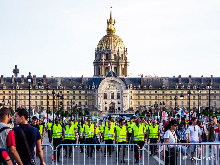 Paris city candidate for the Olympic Games 2024 - Final feast Adult Adults Only Architecture Building Exterior Built Structure City Crowd Day Dome Hotel Des Invalides Jo2024 Large Group Of People Men Outdoors Paris People Real People Sky Water Women