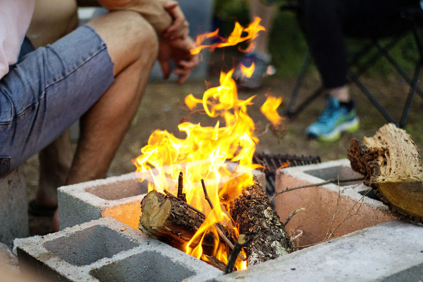 Campfire Camping Recreation  Adventure Burning Fire - Natural Phenomenon Flame Outdoors S'mores