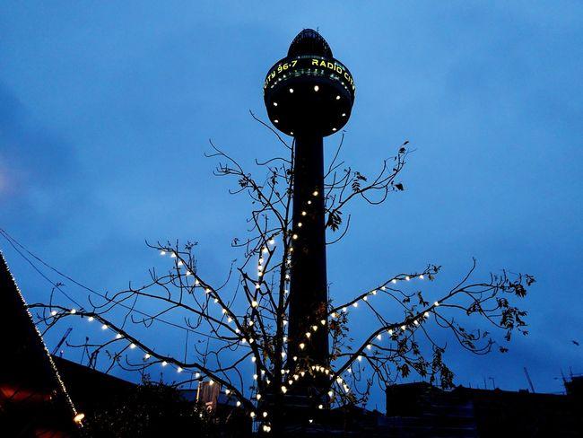 Night Illuminated Sky No People Outdoors Liverpool St John's Beacon Radio City Tower Merseyside