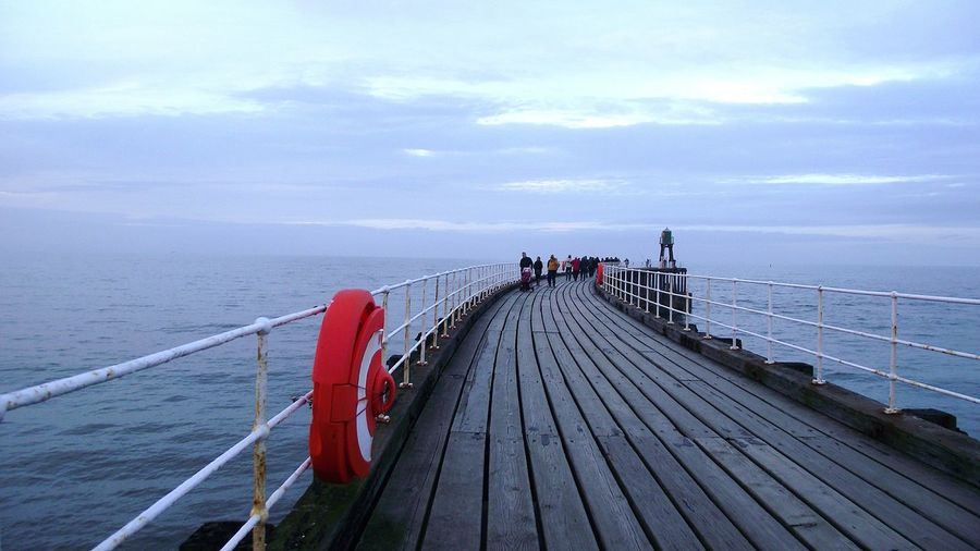 Outdoors Walking Around Whitby View Whitby Pier Whitby Yorkshire Whitby Wanderers Bridge - Man Made Structure Built Structure Femalephotographerofthemonth