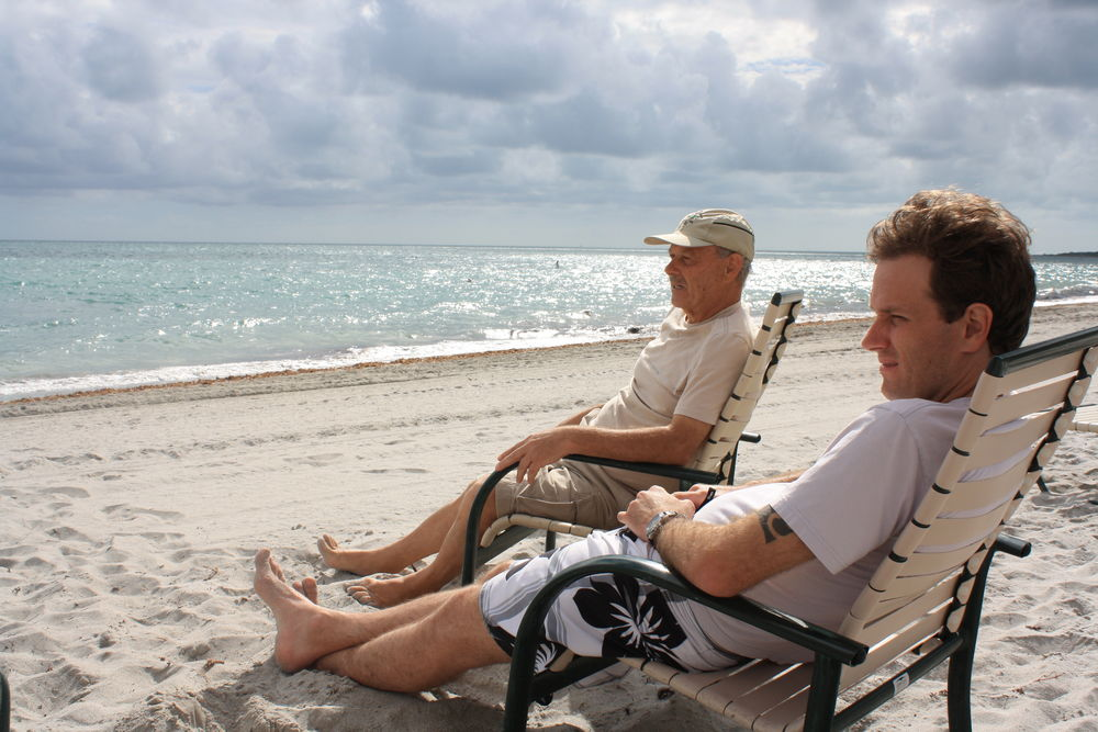 Father and son Love Beach Sand Sea Relaxation Vacations Togetherness Outdoors key biscayne Florida miami Family Moments Done That. Key Biscayne Miami Father And Son Moment Father And Son Time This Is Family