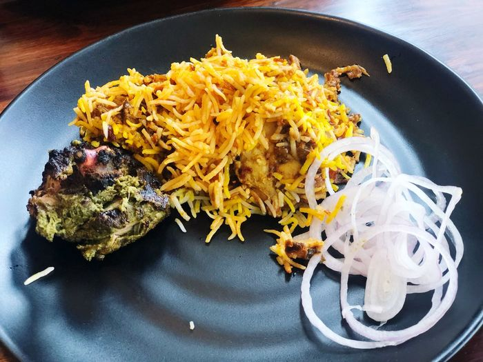 Chickenbiryani Indoors  Food And Drink Plate Still Life Food Pasta Ready-to-eat