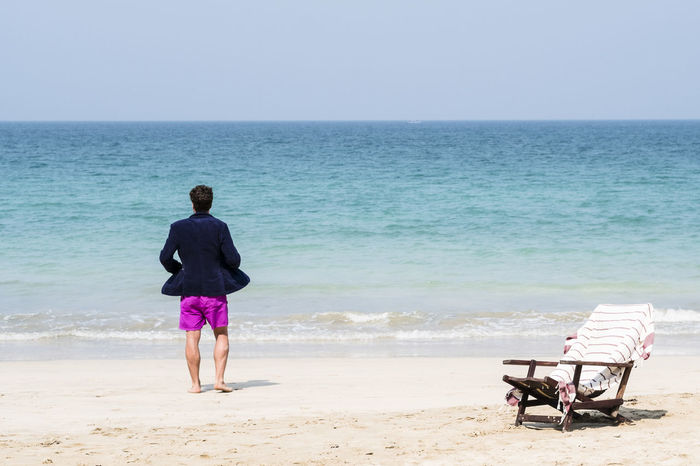 Beach Beach Life Beachchair Casual Clothing Chair Horizon Over Water Sand Sea Water Young Men The Essence Of Summer
