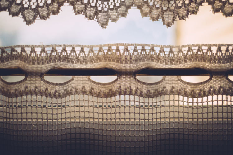 Built Structure No People Reflection Pattern Close-up Indoors  Textile Sunlight Window Curtain
