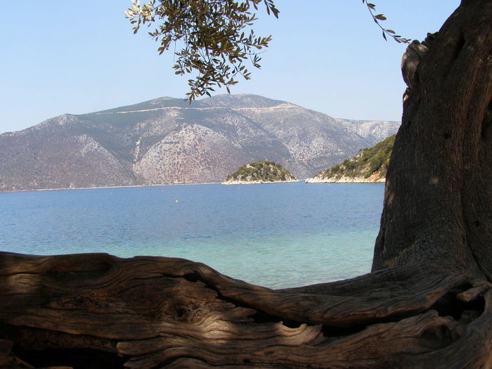Blue Greece Island Ithaca Nature Sea Sky Tranquility