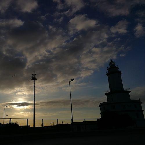 Lighthouse Lighthouse Cloud - Sky Silhouette Prat Del Llobregat Port De Barcelona  Barcelona