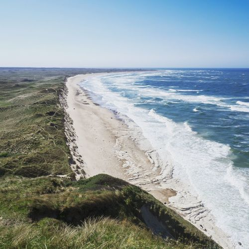 View from Bulbjerg in Denmark Viewpoint View View From Above Coastline Landscape Shoreline Coast Nordsee Northsea Dänemark Denmark Sea Water Beach Land Horizon Over Water Beauty In Nature Sky Horizon Scenics - Nature Tranquil Scene Tranquility Nature Day Clear Sky Wave Surfing Outdoors