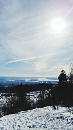 Cold Temperature Snow Outdoors Sea Winter Sky Nature Tree Scenics No People Sunset Day Beauty In Nature Beach Holmenkollen