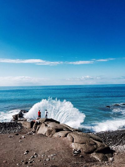 Grand canaria Wave Water Fishing Summer Photography Nature