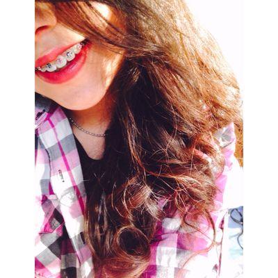 😈 Girl Brakets Smile Vintage Love 16 Curly Hair