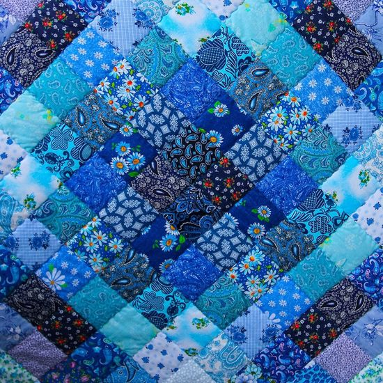 Stiched Pattern Pattern, Texture, Shape And Form Pattern Pieces Pieces Piece Square Background Background Texture Diagonal Blue Blue Texture