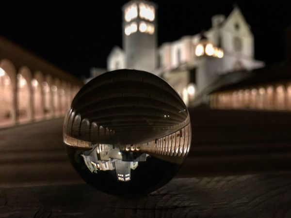 Assisi Sacral Architecture Night Illuminated Built Structure Focus On Foreground Lighting Equipment Architecture Building Exterior No People Close-up City