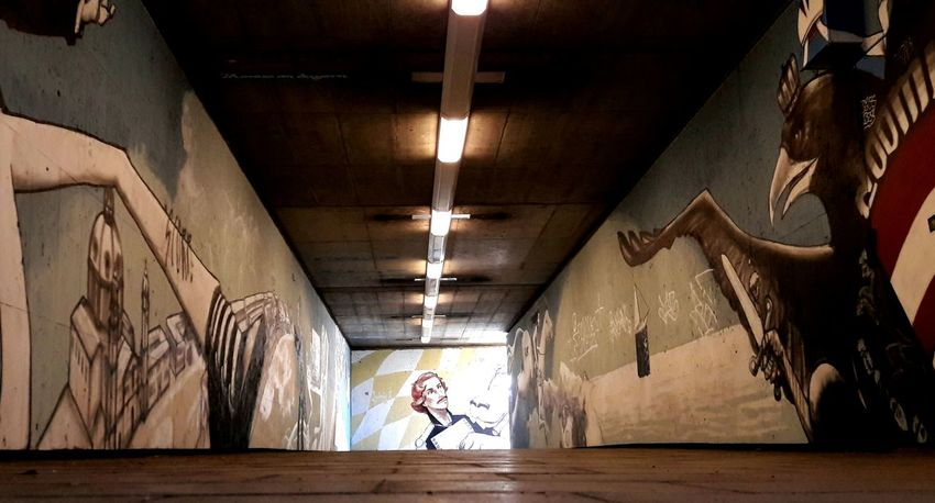 Emperor Franz Joseph II in Trouble in a Munich Underpass. Beauty in a hidden place. City Beauty Shadows & Lights History Art Is Everywhere Munich, Germany Streetphotography Street Art/grafitti Graffiti The World Graffity Art Undergroundpassage Underground