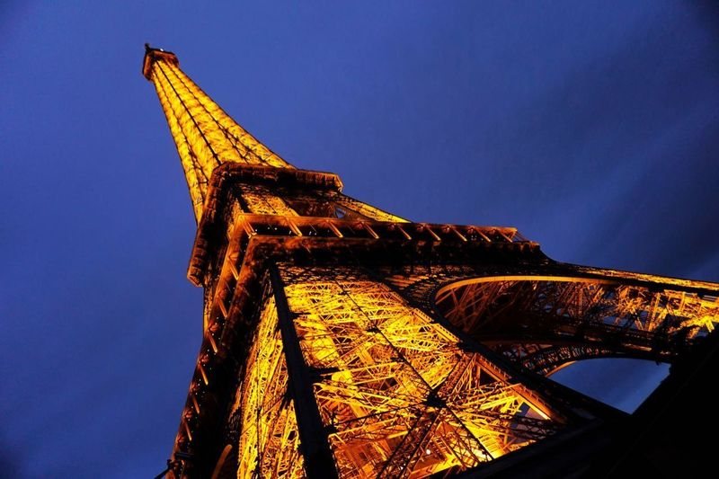 Architecture Effel Tower France Light Paris Night Tower