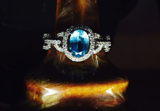 Engagement Ring Diamond Topaz