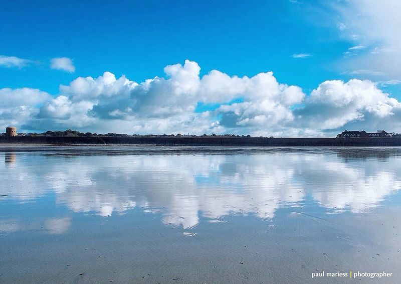 EyeEm Best Shots - Landscape Guernsey Eye4photography  EyeEm Best Shots Clouds And Sky Coastline EyeEm Nature Lover Landscape_Collection Reflection Reflections Symmetry Blue Wave