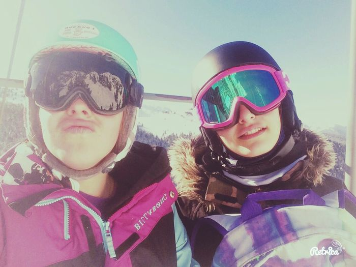 Snowboarding Skiing Sun And Clouds Bestfriend Axlesthermes