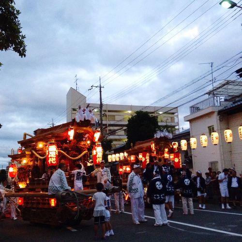 """大阪の伝統祭り、だんじり。今日は生野区の巽神社です。Osaka's traditional festival called """"Danjiri"""". Today I went to see it at Tastumi Shrine in Ikuno-ward. だんじり DANJIRI"""