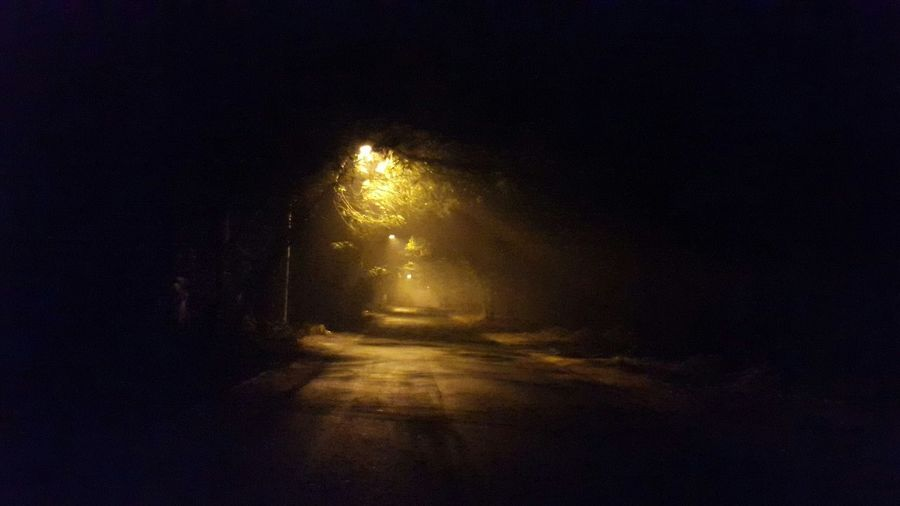 Walk This Way Early Morning Fog I Walk A Lonely Road The Lonely Road Street Lights Because Even In Darkness There Is Beauty... Beautiful Darkness