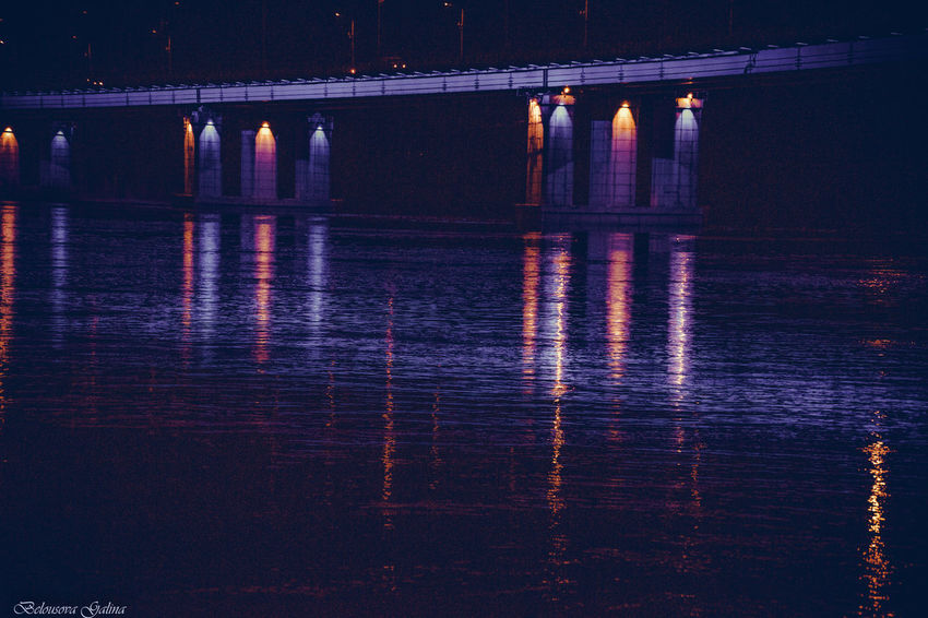 Architecture Bridge - Man Made Structure Built Structure Connection Illuminated Nature Night No People Outdoors Reflection River Sky Sunset Travel Destinations Water Waterfront