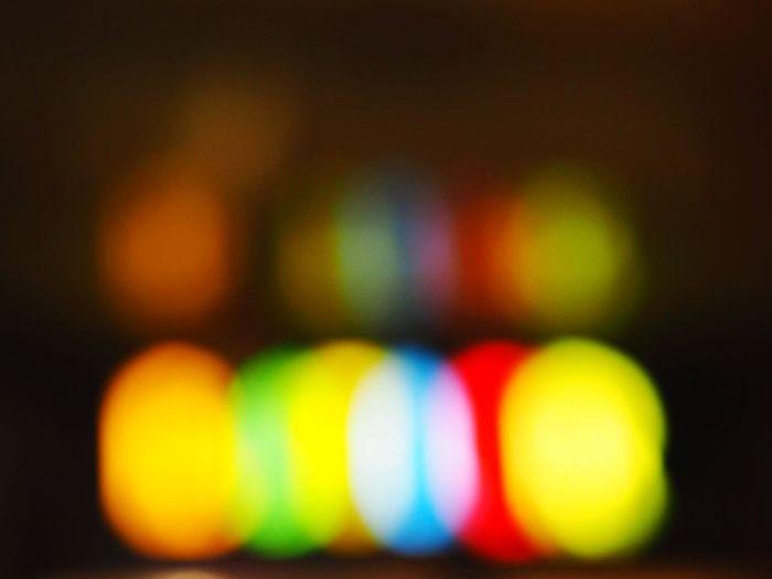Citylights Colors Brand Bokeh Nightphotography Blurry On Purpose Multi Colored Illuminated Yellow Neon Close-up Defocused