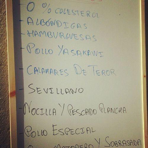 Que alguien me diga desde cuándo Teror, mi pueblo, es famoso por sus calamares. Maldito restaurante loco, encima también tienen en el menú Nocilla y pescado a la plancha. Teror LasPalmas Triana Canarias CanariasViva IslasCanarias CanaryIslands Menu Restaurant
