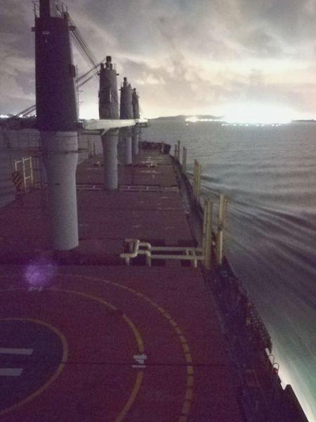 Nautical Theme Nautical Vessel Cargo Ship Life Onboard Nightphotography Long Exposure Sky Architecture Skyscraper Skyline