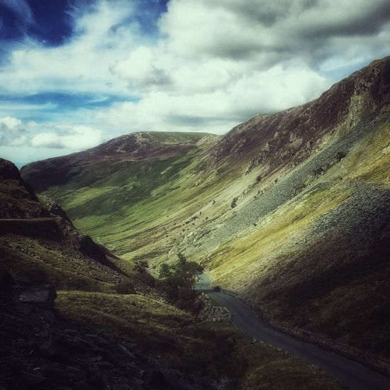 Honisterpass Lake District Landscape #Nature #photography Landscape_photography Nature Photography Cumbria Nature England Hills, Mountains, Sky, Clouds, Sun, River, Limpid, Blue, Earth Hills Summer Views Hillside Hills And Valleys HillTopView Mountains