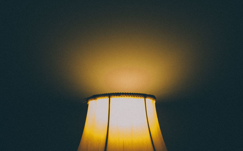 Illuminated Indoors  Lamp Lampshade Lampshade Dinner Lampshades Light Lighting Equipment Low Angle View Minimalism No People