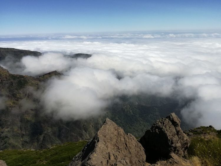 Cloud - Sky Mountain High Angle View Outdoors Sky Tree Nature Day No People Beauty In Nature Nature Portugal Madeira Island
