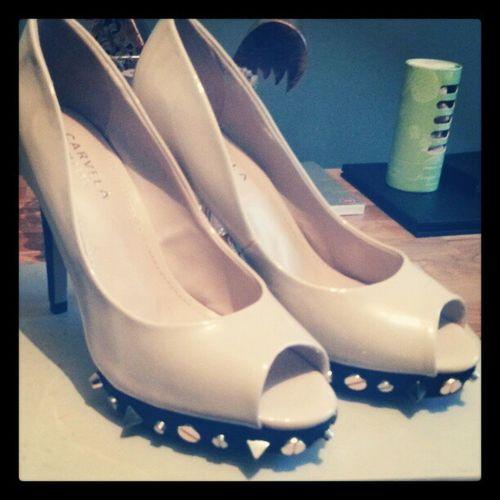 Newshoes Kurtgeiger Carvela Peeptoe Studs Galileo Beautiful Instagood LoveThem  Awesome Shoes Iloveshoes