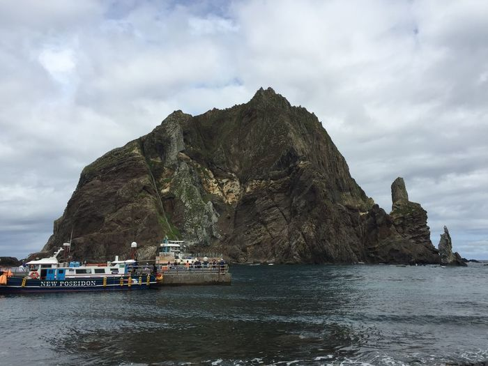 Dokdo Beauty In Nature Cloud - Sky IPhoneography Nature No People Outdoors Rock Sea