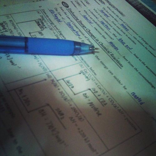 HOMEWORKS!! Chemistry Exercise School Chapter4 thermochemistry night study revision potd doubletap