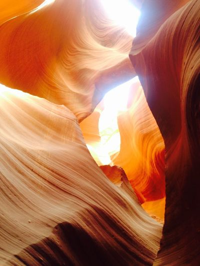 Love Natures Beauty Summer Exploratorium Astonishing Nature Antelope Canyon USA Holyday Mood Astonishment Sublime Landscapes Unique Moments Trip Memories USA Rock Formation Rock - Object Rock Geology Solid Non-urban Scene Beauty In Nature Travel Destinations Physical Geography Sandstone Sunlight Travel Nature Tranquility Low Angle View Canyon Eroded No People Day Tourism