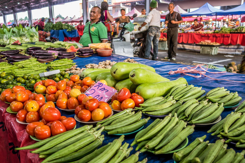 Canon G7X Colour Of Life Fruits Kuching Malaysia People Vegetables Weekend Market