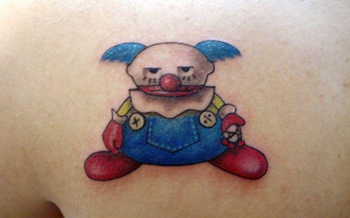 Para un Fan de las películas de Pixar!! Tattoo Tatuaje Payaso Clown