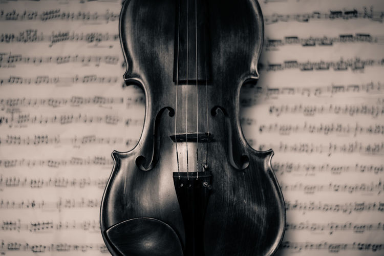 Violin Backgrounds Classical Music Close-up Indoors  Music Musical Equipment Musical Instrument Musical Instrument String Musical Note No People Paper Sheat Musi String Instrument Violin Wallpaper Wallpapers