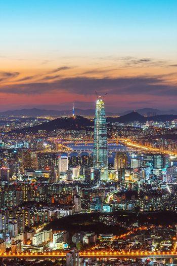 Seoul Korea City Night Landscape Cityscape Night View Nightscape Sony A7R