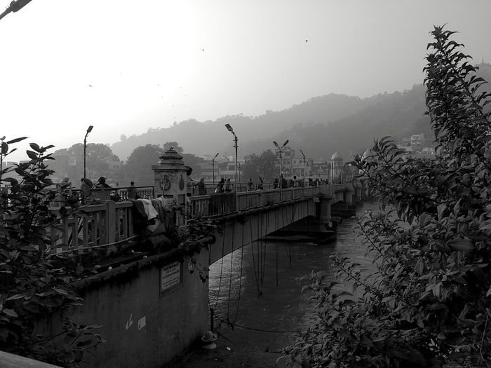 City in my heart.. Haridwar Colorsinblackwhite Mobilephotography Bridge - Man Made Structure