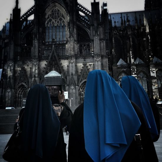 Three Nuns and one TAB ... Showcase: November Tourists Streetphotography Cologne Germany WomeninBusiness