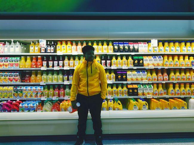 Juice OJ  Orange Juice  Supermarket Full Length Standing Men Retail  Choice Variation Mid Adult For Sale Produce Aisle Retail Display Shelves EyeEmNewHere
