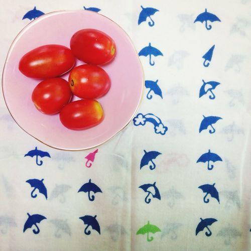 所用で村山の某所にて。 Tomato Washcloth Summer Japan
