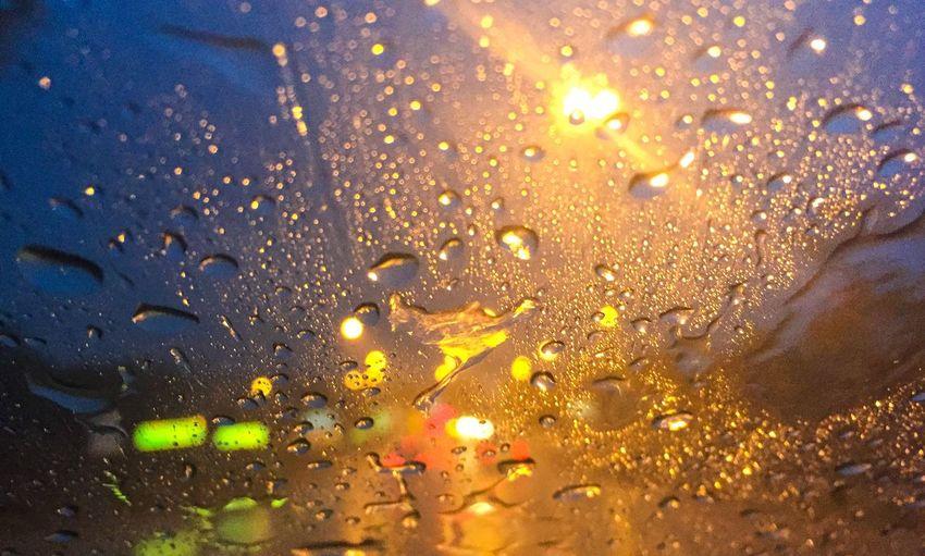 Journeyphotography Journey Rain On Raod Road Drive Night Raining Light Water Car Beauty Abstract